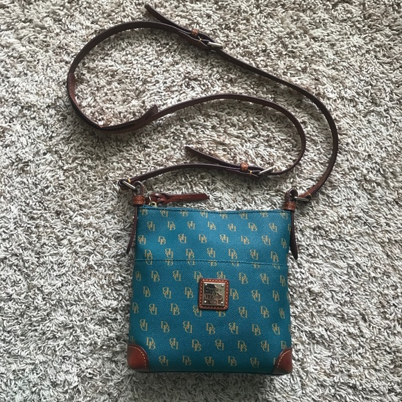Dooney & Bourke Handbags - Teal Dooney & Bourke Crossbody Leather Purse